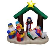 6 Foot Christmas Inflatable Nativity Scene Blowup Yard Garden Outdoor Decoration