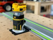 Dewalt Router Adapter For Festool Track Saw Guide Rails - Dcw600b 20v And Dwp611