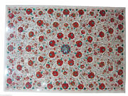 36 X 48 Inches Marble Conference Table Top Carnelian Stone Inlaid Dining Table