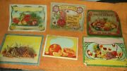 6 Old Vintage Chromo Litho Colorful Labels From India 1950