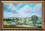 Oil On Board By John Constable Reeve. Benstead Farm Mettingham And Church.
