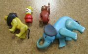 Fisher Price Circus Train Animal Figures And Clown 1970's Read
