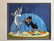 Daffy Duck And Bugs Bunny- Signed 1982 Limited Edition Hand Painted Cel 30/100