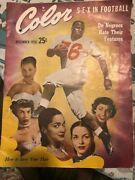 Dec 1950 S-e-x In Football Buddy Young New York Yankees Color Magazine