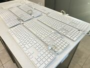 Lot Of 9 Apple Wired Aluminum Usb Keyboard A1243 For Parts Tested See Desc.