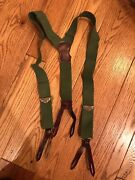 Vintage Police Brace Menand039s Suspenders - Braces With Brass Adjusters And Leather
