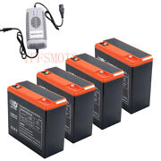 6-dzm-20 12v 24ah Rechargeable Battery + Charger For Electric Scooter Atv Gokart