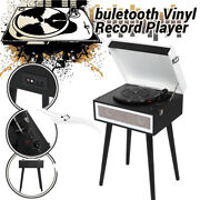 Bluetooth 5.0 Vinyl Record Player Lp Disc 33 45 78 Rpm Turntable Receiver Hy-t10
