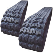 Two Rubber Tracks For Gehl Rt210 5640e 5635 450x86x56 Zig Zag Tread 18 Wide