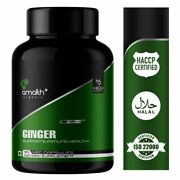 Amalth Organic Ginger Root Powder Zingiber Officinale Digestive Support Caps