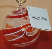 Red Spin Artisan Ornament By Glass Eye Studio, Made In The Usa, 1204oas 1