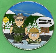 Us Border Patrol South Park Respect My Authority Police Challenge Coin