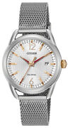 Citizen Eco-drive Womenand039s Rose-gold Accent Mesh Bracelet 34mm Watch Fe6081-51a