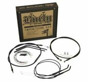 Burly B30-1202 Cable And Brake Line Kits Black 12in. Ape Hangers