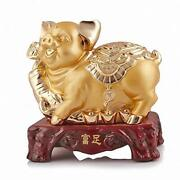 Boyull Chinese Zodiac Pig Year Large Size Golden Resin Collectible Figurines ...