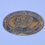 Blacklers Stores Liverpool Tiger Tan Antique Advertising Sign Small Oval