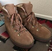 Ugg Women Size 7 Birch Lace Up Waterproof Chestnut Classic Wedge Hiking Boots
