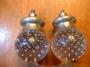 Pair Of Htf Antique Pairpoint Controlled Bubble Doorknobs