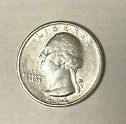 1934 Washington Silver Quarter With Lots Of Nice Luster And Sharp Designs