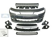 Fits 15-21 Dodge Charge Srt-8 Hellcat Style Front Bumper W/grill W/fog Cover Set