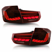 12-18 Bmw F30 F80 Gts Sequential Style Led Taillights - Dark Red Lens