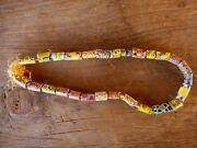 Necklace Rare Vintage Millefiori African Trade Beads 1970and039s Groovy Handmade