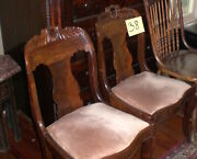 Antique Empire Mahoghany Chairs Gondola Pair 1880and039s