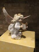 """Precious Moments Faith Is Heaven's Sweet Song 9"""" Angel With Harp Figurine 975893"""
