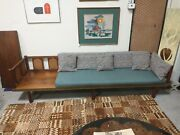 Vintage Mid Century Cane Modern Daybed Chair Set 50s 60s