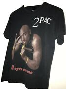 2005 Death Row Records Tupac Rap Tee Shirt All Eyez On Me 2pac Graphic Dimple S