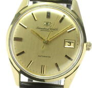 Schaffhausen 18k Solid Gold Cal.8541b Gold Dial Automatic Menand039s Watch_575693