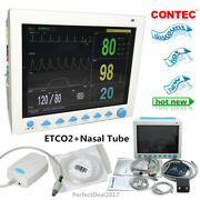 Usa Fedex Icu Patient Monitor Capnograph Co2 Vital Signs Monitor Co2+nasal Tube