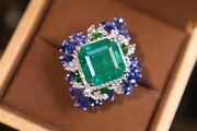 Authorized Emerald 10.65ct Ring D1.16ct S4.9ct G18k 11.9g Japan Order