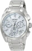 New Seiko Astron Gps Solar Charging Sbxc063 Silver Menandrsquos Watch From Japan