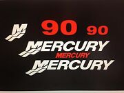 Mercury Outboard Decal Kit 90 Hp Decal Stickers Marine Vinyl This Set Is 90 Hp