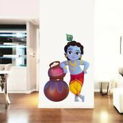 Lord Krishna And Butter Pots Wall Sticker Removable Art Decor Decal Mural Kid Room