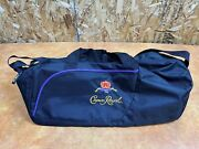 Crown Royal Black Canvas Gym Duffel Bag Adjustable Bag New Without Tags
