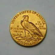1913 P 2.5 Indian Head Quarter Eagle Us Gold Old Coin 2 1/2 Uncertified Coin