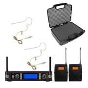 Uhf Wireless System Beige Headset Microphone Professional For Shure 200 System
