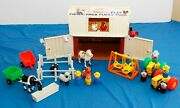 Vintage Fisher Price Little People Play Farm Set Clean...wow