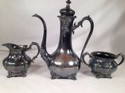 Victorian Quadruple Plate Forbes After Dinner Chocolate/coffee Pot Creamer Sugar