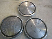 Ford Motor Company 10.5 X 1 And 1/8 Dog Dish Hubcaps / Ratrod