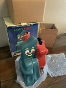 New Boxed Gumby And Pokey Figure Cookie Jar 1997 Clay Art San Francisco