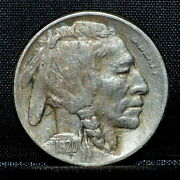 1920-s Buffalo Nickel ✪ Ch-vf Details ✪ 5c Very Fine Cleaned L@@k K74 ◢trusted◣