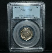 1917-s Buffalo Nickel ✪ Pcgs Ms-63 ✪ 5c Choice Uncirculated Unc L@@k ◢trusted◣