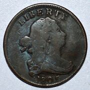 1805 Draped Bust Half Cent ✪ Vg Very Good Details ✪ Small 5 With Stems ◢trusted◣