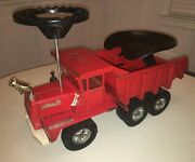1960and039s Buddy L Mack Metal Dump Truck W/ Steering Wheel And Seat. Rare W/history