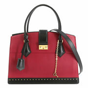 Louis Vuitton Cour Marly Mm Hand Shoulder Bag Calf Leather Red M51652 90115398