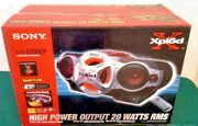 Sony Xplod Cfd-g700cp Cd And Cassette Player And Am/fm Stereo Boombox And Remote