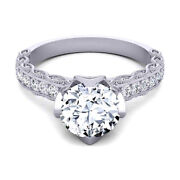 Round 0.80 Ct Real Diamond Wedding Rings Solid 14k White Gold Ring Size 5 6 7 8